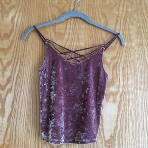 American eagle velvet cropped tank. Size XS.